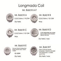 Original Longmada Sr. Calvo III Atomizador bobinas de substituição de cerâmica Quartz bacia Aquecimento cabeça Herbal Tanque para 510 Mod T seco Herb vaporizador Kit