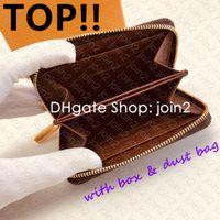 ÜST. M60067 Zippy bozuk para çantası Tasarımcı Moda Kadınlar Sıkıştırılmış Kart Sahibi Anahtar Kılıfı Cles Mini Poşet Aksesuarlar Lüks Sarah Clemence Cüzdan