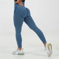 Kadınlar Yüksek Waisted Spor Gym Fitness Egzersiz Tozluklar Kadın 2020 Push Up Ayak bileği uzunluğu gymwear Dikişsiz Yoga Pantolon