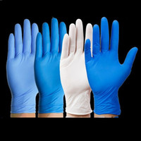 Einweg-Handschuhe Nitril-Handschuhe Schutzhandschuh wasserdicht und Anti-Korrosions-100pcs / lot Reinigung Handschuhen Reinigungsausrüstung T2I51529