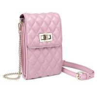 Сеть розовый мобильный телефон косой крест мешок дамы дизайн Линге овчины небольшой мешок молодежи высокого класса дикое плечо подарок монета кошелек день рождения 8031