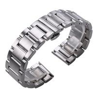 Твердые нержавеющей стали 316L Silver 18мм Ремешки для наручных часов 20мм 22мм металла Часы ремешок Ремешок наручные часы браслет CJ191225