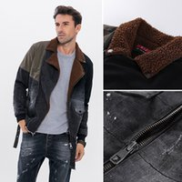 2020 Autumn and Winter new men's thickened denim jacket men's casual fashion British style jacket