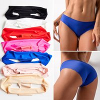 Women Underwears Sexy Ice Silk Seamless Lingerie Panties One...