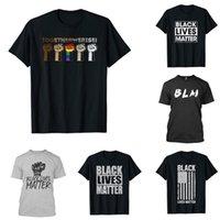 DHL корабль, 11 Стилей Черного Lives Matter футболка для мужчин / женщин 2020 Равенства Борется Мода Pattern мужских Top Тройники с коротким рукавом летом