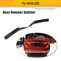Para Infiniti Q50 14-17 Carbono Pára-choques traseiro Difusor Splitter Bodykit Protecter