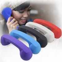 Combiné Téléphone portable sans fil Bluetooth Retro Volume du casque réglable prévention avec microphone pour les radiations iPhone iOS pour Android