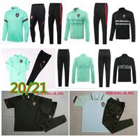 20 21 Portugal chaqueta de fútbol chándal 2020 2021 Portugal RONALDO Fútbol Ropa deportiva Camiseta de entrenamiento Jogging para hombre Chandal Fútbol Pie