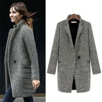 Женские шерстяные смесистые пальто женские куртки плюс размер зимние варевые шерстяные 2021 мода сексуальные дамы негабаритные кардиган бархатные хлопковые мягкие ретро