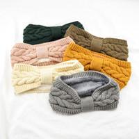 겨울 여자 니트 모자 울 비니 퍼지 양털 안감 두꺼운 니트 머리띠 Headwrap Earwarmer의 따뜻한 모자