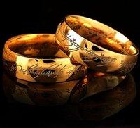 Hobbit lettere Midi acciaio inossidabile Unico Anello del Potere oro del Signore degli Anelli gioielli amanti della moda