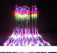 3m * 3m de soirée de mariage de Noël fond vacances Courir Cascade d'eau d'écoulement d'eau rideau de lumières à DEL 336 Ampoules imperméable à l'eau
