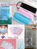 Çocuklar Maskeler Yetişkin Bireysel paketi 10pcs Maske / paket Tasarımcı karikatür Çocuk yüz Maskesi 3 katman Tek Maske Kid Koruyucu mascarilla