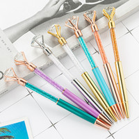 Новые Big Diamond Ballpoint Bling Bling Маленькие Кристалл Металлические Ручки Школьные Офисы Письменные Поставки Бизнес Ручка Канцтовары Студенческий подарок