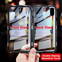 360 Magnetic Adsorption Metallkasten für iPhone SE 11 Pro XS Max XR Doppelseitige Glas-Kasten für iPhone 7 8 6 6s Plus-Magnet-Abdeckung