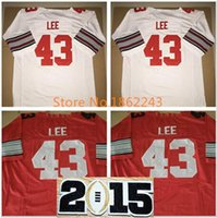 Factory Outlet- # 43 Darrin Lee Jersey 2015 Championship Diamond Quest Ohio State Buckeyes College Football Jerseys 2015 Patch Gratis verzending