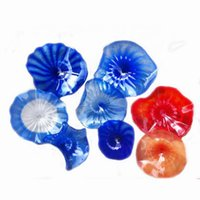 2020 Home Hotel Decoration Wall Plates Energy Saving Colofrul Chihuly Style Hand Blown Glass Wall Lamps