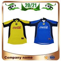 2000/2001 Versão Retro MX Club América Futebol Jerseys 00/01 América R.Sambueza P.Aguilar Camisa de Futebol México Uniforme de Futebol