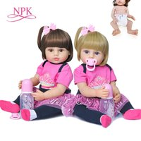 NPK 55CM original authentic designed reborn baby girl doll t...