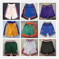 Dikişli Erkek Basketbol Sadece Don Cep Şort Hip-Hop Tüm Şehir Takımları Adı Yıl ID Etiketleri Mitchell Ness Sweatpants Spor Büyük Fa