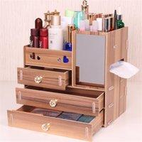 Urijk fai da te in legno Storage Box trucco dell'organizzatore gioielli contenitore di legno cassetto dell'organizzatore Handmade Cosmetic Storage Box