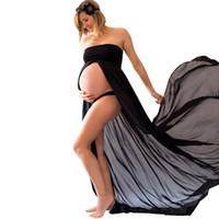 الحمل اللباس التصوير الدعائم فساتين للصور تبادل لاطلاق النار ماكسي ثوب فساتين ملابس الأمومة للنساء الحوامل