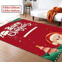 WUJIE 47x63''inch الأحمر 3D مساحة عيد الميلاد سجاد لغرفة المعيشة المضادة للانزلاق أرضية حصير ممسحة Alfombra نوم السجاد الديكور المنزلي