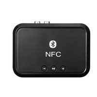 NFC NFC portátil estéreo Bluetooth receptor de audio / adaptador de 3,5 mm de salida RCA de sonido para la música del coche del altavoz del teléfono