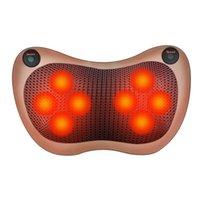 Car Home elétrica Massagem Pillow Rollers Pescoço Ombro Voltar Massager do corpo Amassar Infrared Aquecimento Terapia Shiatsu Cushion