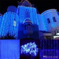 300LEDS. 600LEDs. LED-Fenstervorhang String-leichte Hochzeits-Party Home Garten-Schlafzimmer im Freien Innen-Wanddekorationen