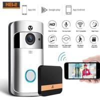 2020 neue Wifi Video-Türklingel mit Glockenspiel HD-Kamera Intercom-Türklingel-Videoanruf Apartments IR Alarm Wireless Security Kamera-App Steuer