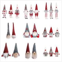 24 estilos Funny Christmas Ninguna cara Muñecas Europea Estilo Americano Ventana Muñeca Santa Claus Muñeca Dibujos animados Navidad Juguetes