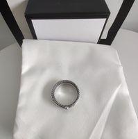 2020 Neueste Produkte Sterling Silber Retro Ring Streifen Ring Mode Trend Ring Top Qualtiy Schmuckversorgung