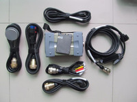 mb star c3 red with software ssd super speed with 7 cables full set diagnosis for cars and trucks 12v 24v