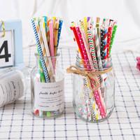 Monouso degradabile Straw Art Paper aspirazione Tubi Dots Stripe Tubularis creativo Bere Occhiali da cucina Accessori Bar 0 06jl B2
