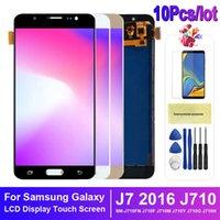 10 قطعة / الوحدة لسامسونج غالاكسي J7 2016 J710 شاشة LCD شاشة تعمل باللمس محول الأرقام J710F J710M LCD إصلاح أجزاء إصلاح
