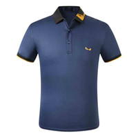 NOUVEAU Hot Brand New Street Grand Street Designer de luxe Mens Polos Casual Hommes Casual Hommes Polo Broderie Bee Snake Polo T-shirts