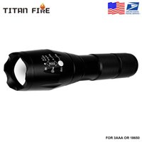 Protable LED electric torch XML-T6 Tactical electric torch Waterproof pocket Outdoor Zoomable Lanterna Lighting Bike Light