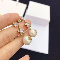 Factory outlet D home among the stars flash irregular pearl earrings set auger female S925 silver needle anti allergic to bees earrings