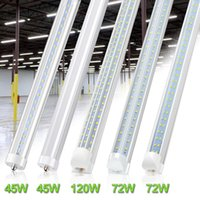 8 ft LED Tubes Single Pin FA8 LED Bulb 45W 72W 8feet 8ft LED Tube Lamp Replace Fluorescent Tube Light V Shaped Tubes