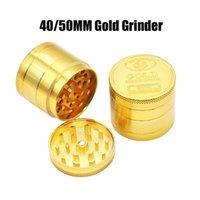 Ouro completa 40 milímetros 50mm 4 camadas SF Califórnia Liga de zinco Herb Grinder fumaça Grinder Tobacco Vape Grinders Acessórios fumar