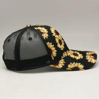 8style Snake Baseball Hat Cow Print Leopard Sunflower Caps Serape Mesh Cap Fashion Striped cactus Hats Outdoor Sunhat GGA3662-1