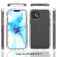 48 ore della nave Ultra Clear Armor Phone Case for iPhone 12 11 Pro Max XR X XS Max 7 8 6 6S più 2 in 1 completa Soft Body Back Cover Cases Coque