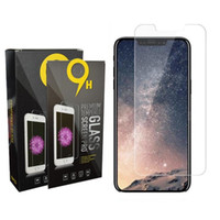 Schutz-Film für iphone 12 11Pro 6 7 8 Plus X XR Max Ausgeglichenes Glas-Schirm-Schutz für Samsung-Galaxie s6 s7 Rand s8 s9 mit Kleinkasten