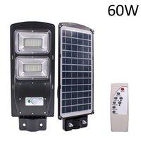الاستشعار الشمسية في الهواء الطلق ضوء 60W 120 LED مع تحكم في الضوء والرادار الاستشعار أسود للجدار في الهواء الطلق أو قطب في ساحة، حديقة، حديقة