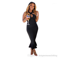 Sexy Women Dresses Criss-Cross Halter Dress Summer Black Bodycon Pencil Club Dresses Fashion Panelled Hollow Out