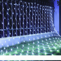 Оптовая продажа 10 м * 8 м 2000LEDs 6mx4m 640 светодиодные струны очень большой сетевой клей водонепроницаемый лампа огни вспышки лампы декоративные