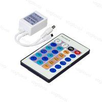 Controladores de cor única sem fio 24keys 3 * 2A RF IR Remoto ABS DC Connect para 3528 5050 2835 5630 3014 LED tira luzes DHL
