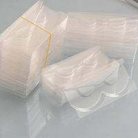 100pcs chiare ciglia all'ingrosso vassoi supporto per ciglia 25 millimetri visone vassoio acrilico plastica per imballaggio ciglia scatolare rettangolo