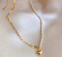 Cadena de la perla caliente Collares 18K Oye joyería colgante Gargantilla de boda del partido de las mujeres